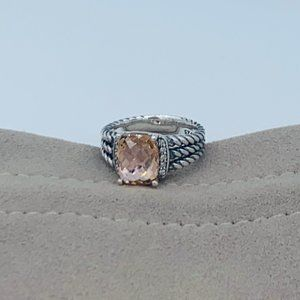 David Yurman Petite Wheaton Morganite & Diamonds